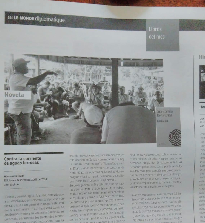 Reseña en Monde Diplomatique Colombia, octubre 2018